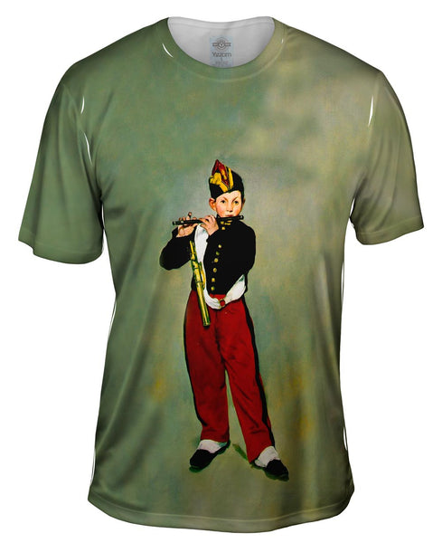 "Edouard Manet -""Young Flautist"" (1866) Mens T-Shirt"