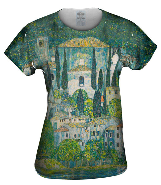 "Gustav Klimt -""Church in Cassone"" (1913) Womens Top"