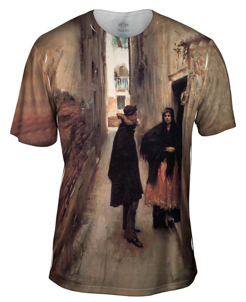 "Sargent -""Street in Venice"" (1882) Mens T-Shirt"