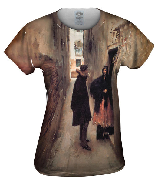 "Sargent -""Street in Venice"" (1882) Womens Top"