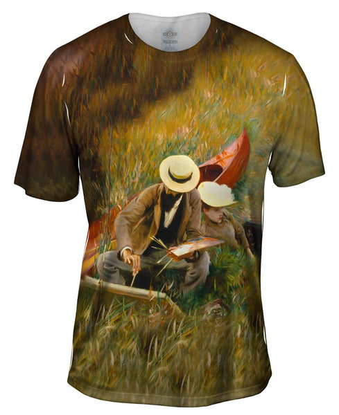"Sargent -""Outdoors Study"" (1889) Mens T-Shirt"