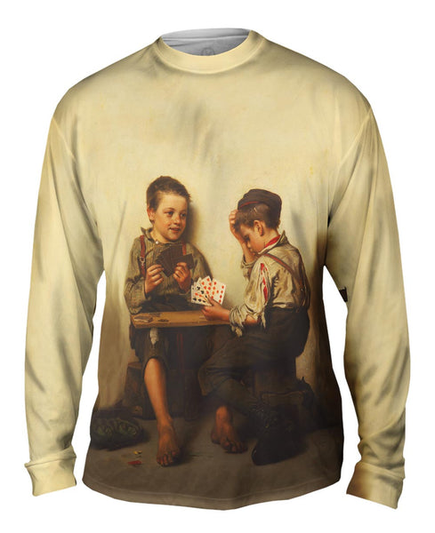 "Brown -""Bluffing"" (1885) Mens Long Sleeve"