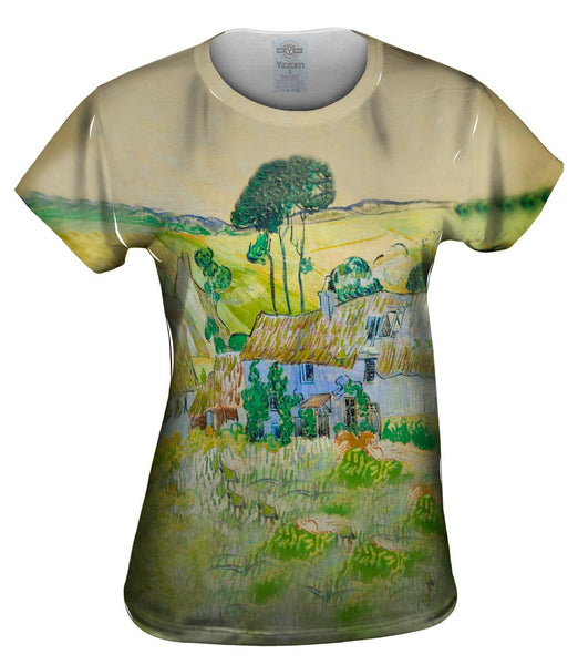 "Van Gogh -""Farms Near Auvers"" (1890) Womens Top"