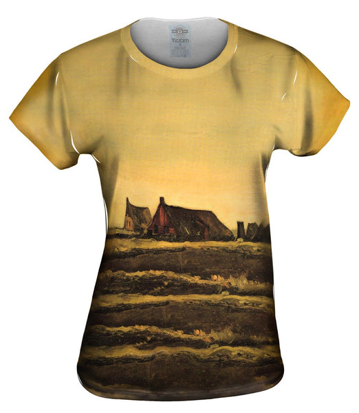 "Van Gogh -""Cottages"" (1883) Womens Top"