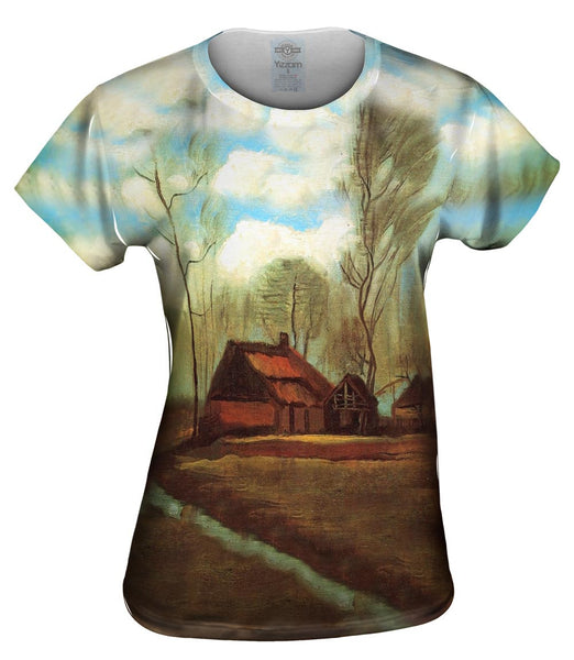 "Van Gogh -""Farmhouses Among Trees"" (1883) Womens Top"