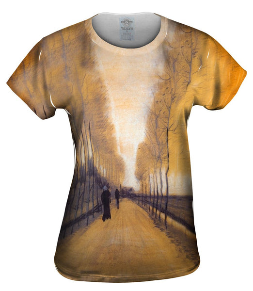 "Van Gogh -""Alley Bordered by Trees"" (1884) Womens Top"