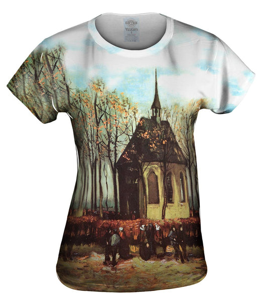 "Van Gogh -""Congregation Leaving Church"" (1884) Womens Top"