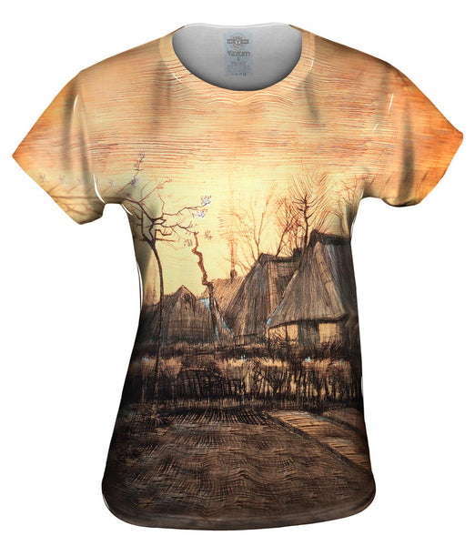 "Van Gogh -""Houses with Thatched Roofs"" (1884) Womens Top"