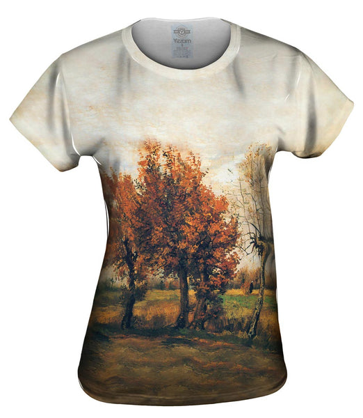 "Van Gogh -""Autumn Landscape with Trees"" (1885) Womens Top"