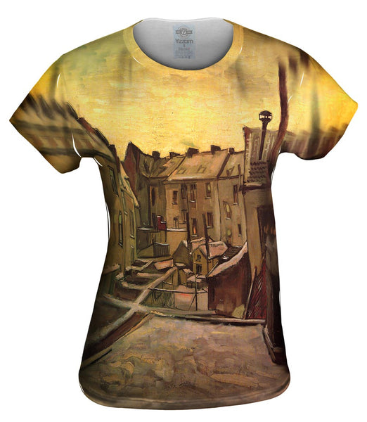 "Van Gogh -""Backyard of Old Houses"" (1885) Womens Top"