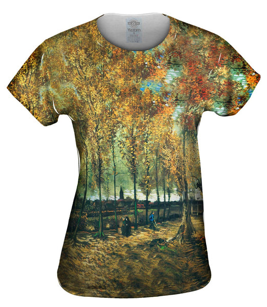 "Van Gogh -""Lane with Poplars"" (1885) Womens Top"