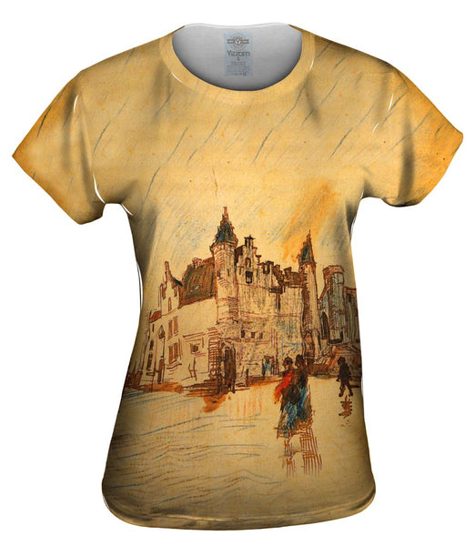 "Van Gogh -""View of Het Steen"" (1885) Womens Top"