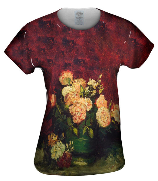 "Van Gogh -""Bowl with Roses"" (1886) Womens Top"