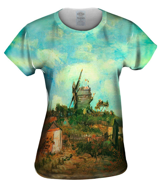 "Van Gogh -""Moulin de Gallete III"" (1886) Womens Top"