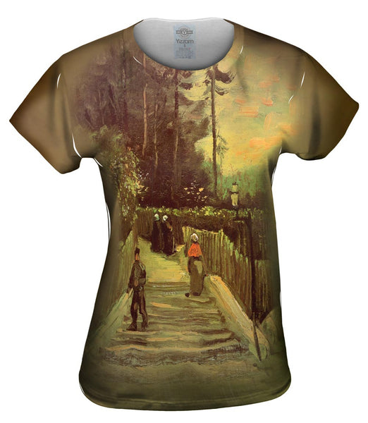 "Van Gogh -""Slopping Path Montmartre"" (1886) Womens Top"