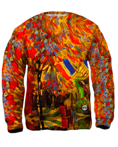"Van Gogh -""Celebration in Paris"" (1886) Mens Sweatshirt"