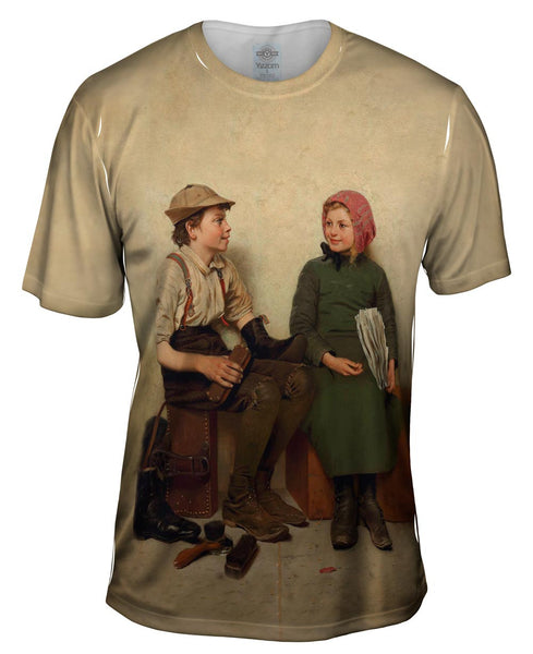 "Browns -""Boy and Girl"" (1889) Mens T-Shirt"