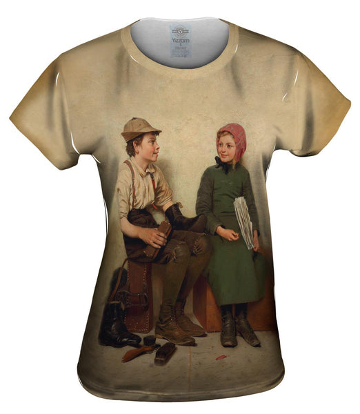 "Browns -""Boy and Girl"" (1889) Womens Top"