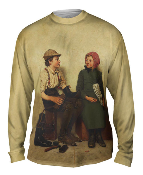 "Browns -""Boy and Girl"" (1889) Mens Long Sleeve"