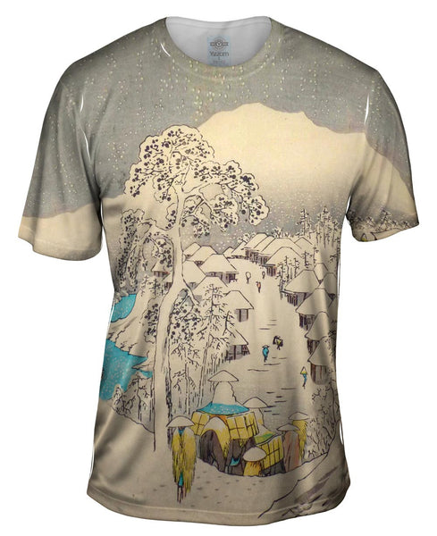"Japan - Utagawa Hiroshige - ""Upright Tokaido"" (1855) Mens T-Shirt"