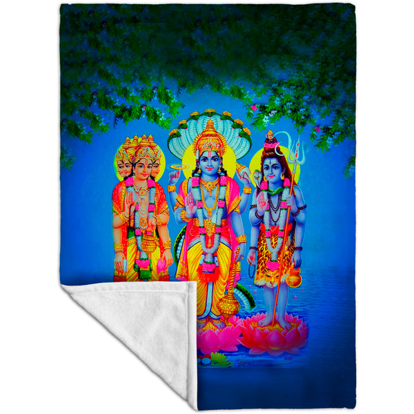"India - ""Hindu Gods and Goddesses"" Fleece Blanket"