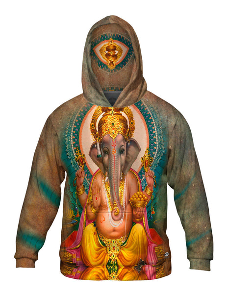 "India - ""Ganesh Hindu God"" Mens Hoodie Sweater"