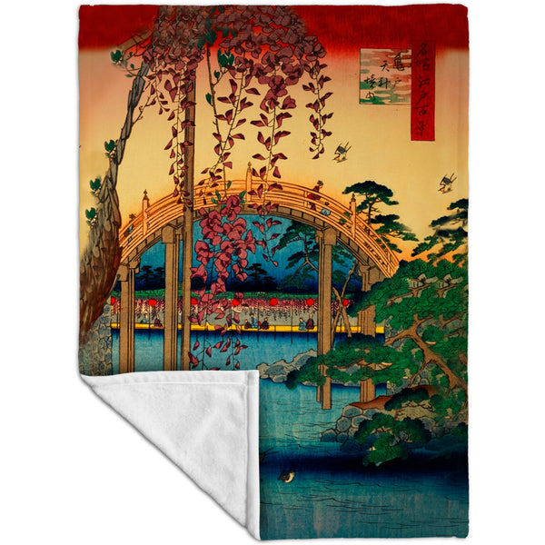 "Japan - ""Kameido Tenjin Shrine"" Fleece Blanket"