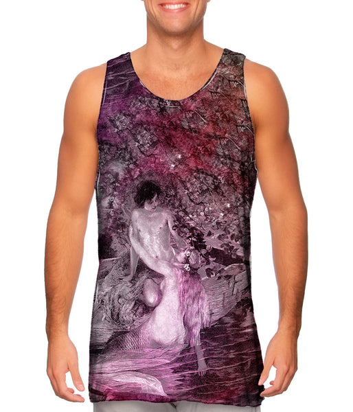 """Mermaid Lover On Boat"" Mens Tank Top"