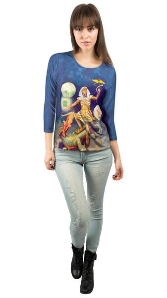 """Egypt Hermes"" Womens 3/4 Sleeve"