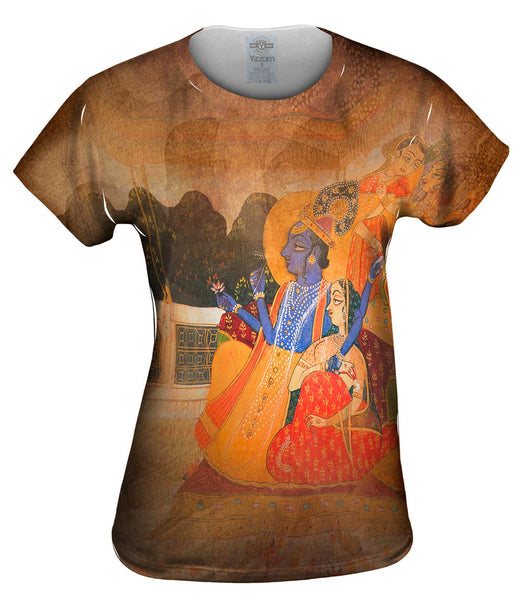 "Indian - ""Krishna and Radha"" Womens Top"