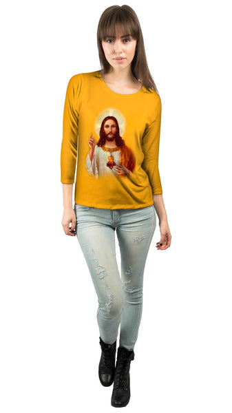 """Jesus Savior"" Womens 3/4 Sleeve"