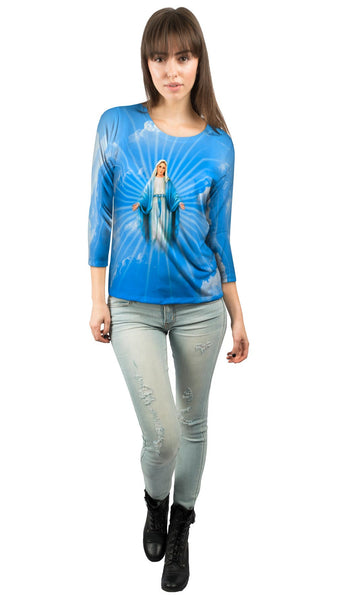"""Blessed Virgin Mary"" Womens 3/4 Sleeve"