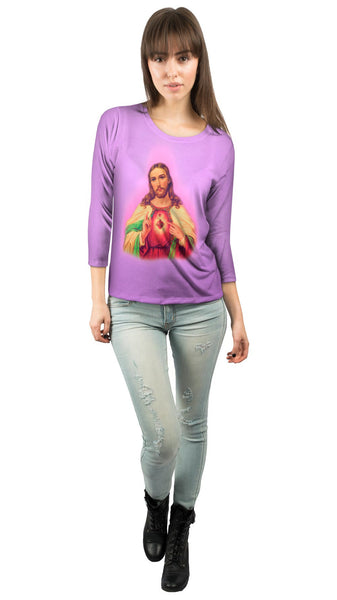 """Blessing Jesus Pink"" Womens 3/4 Sleeve"