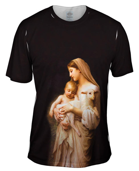 """Virgin Mary Jesus and a lamb"" Mens T-Shirt"