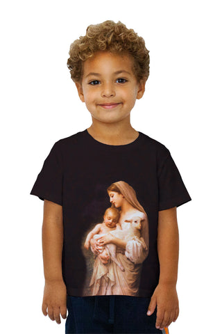 "Kids ""Virgin Mary Jesus and a lamb"""