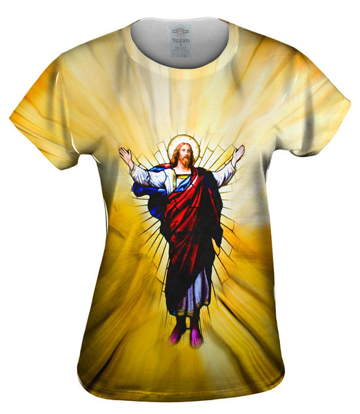 """Stained Glass Christ"" Womens Top"