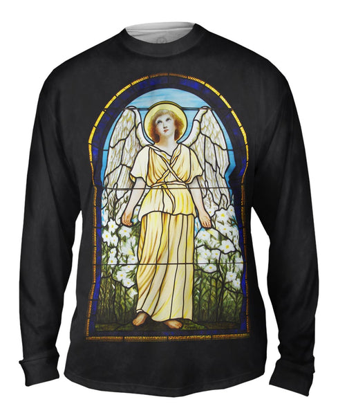 """Stained Glass Angel"" Mens Long Sleeve"