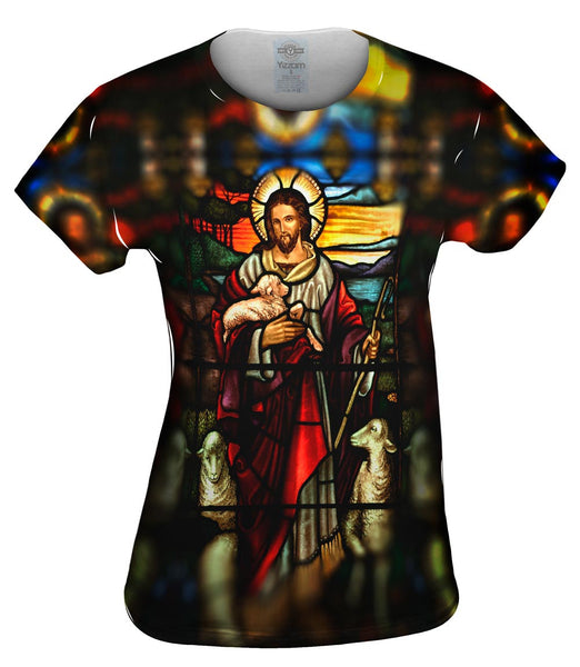 """St Johns Ashfield Stained Glass Good Shepherd"" Womens Top"