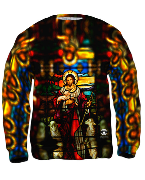 """St Johns Ashfield Stained Glass Good Shepherd"" Mens Sweatshirt"