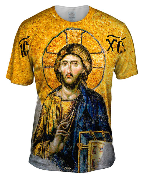 """Christian Orthodox Jesus Gold Hagia Sophia"" Mens T-Shirt"