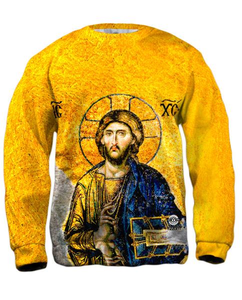 """Christian Orthodox Jesus Gold Hagia Sophia"" Mens Sweatshirt"