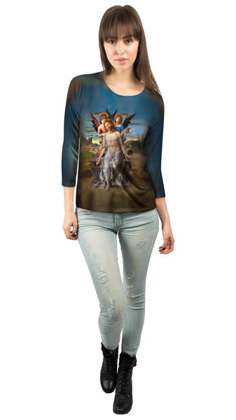 """Christ As The Suffering Redeemer"" Womens 3/4 Sleeve"