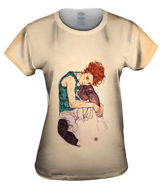 "Egon Schiele - ""Seated Woman with Bent Knee"" (1917) Womens Top"