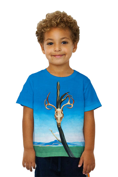 "Kids Georgia Okeeffe - ""Deer Skull with Pedernal"" (1936) Kids T-Shirt"