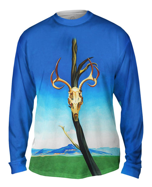 "Georgia Okeeffe - ""Deer Skull with Pedernal"" (1936) Mens Long Sleeve"