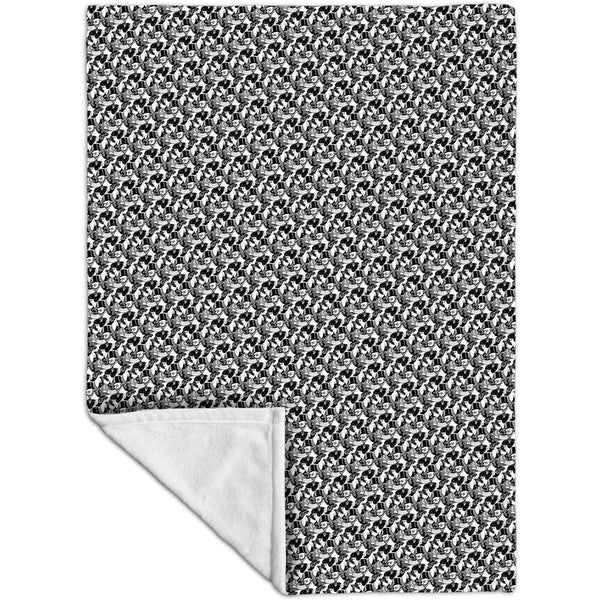 "M.C.Escher - ""Eight Heads"" Fleece Blanket"