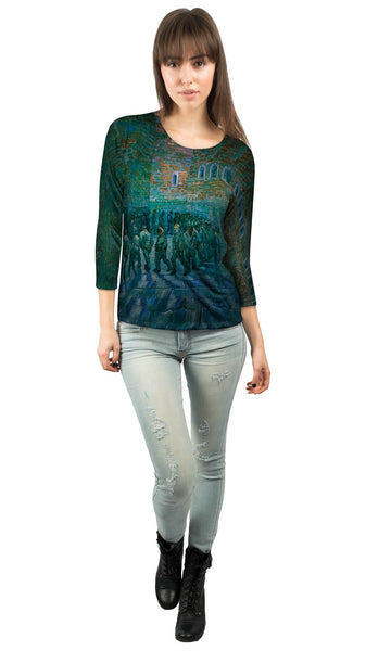 "Vincent van Gogh - ""The Prison Courtyard"" (1890) Womens 3/4 Sleeve"
