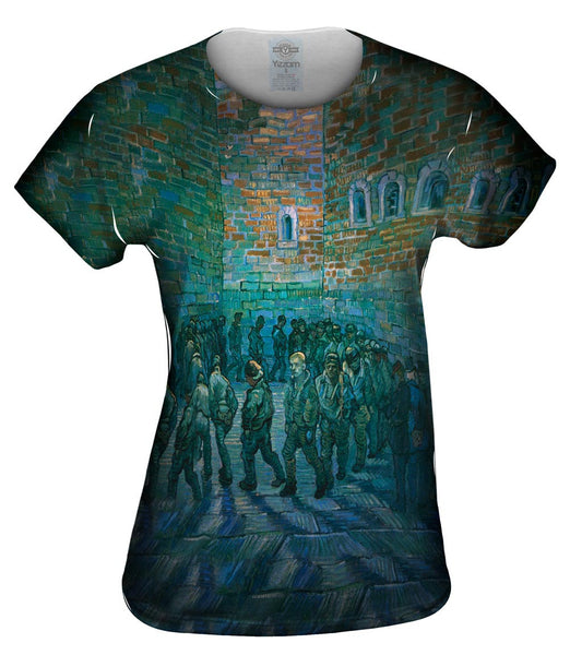 "Vincent van Gogh - ""The Prison Courtyard"" (1890) Womens Top"