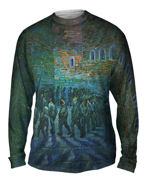 "Vincent van Gogh - ""The Prison Courtyard"" (1890) Mens Long Sleeve"