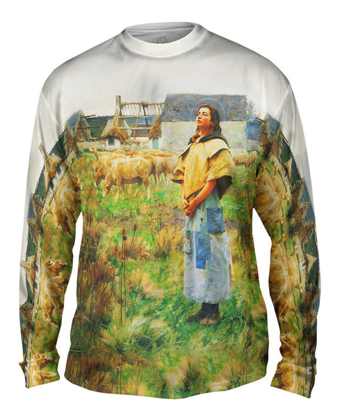 "Charles Sprague Pearce - ""Sainte Genevieve"" (1887) Mens Long Sleeve"